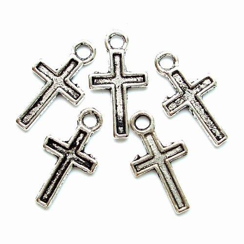 Přívěsek křížek starostříbro 4 ks