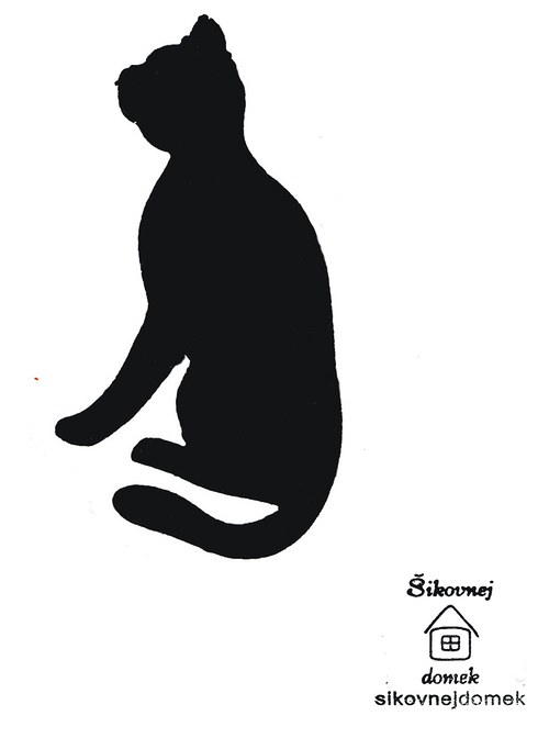 Razítko kočka 2 - v.11,5x8cm