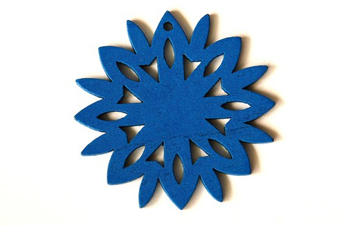 dřevěná sluníčka- modrá