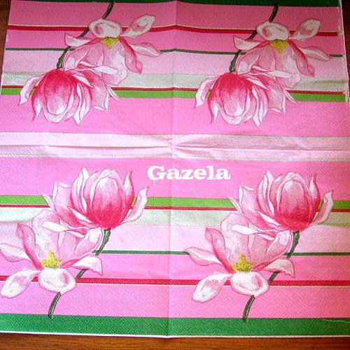 Ubrousek Růžové květiny