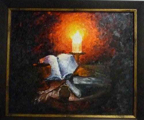 Zátiší se svíčkou