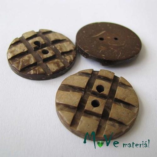 Knoflík kokosový kostičky 25mm, 2ks