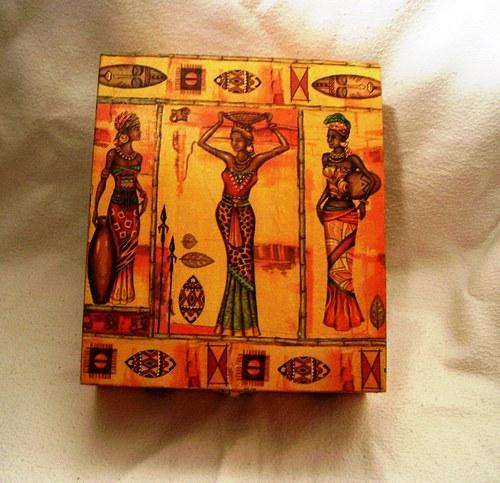 šperkovnice-krabička na čaj  velká