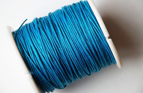 voskovaná šňůrka 10m- modrá