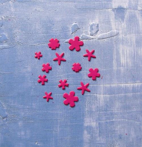 Květinky mini malá sada - 13 ks