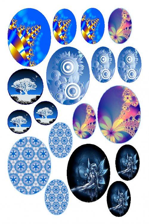 mix motivů modrých