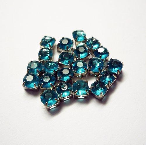 Štrasové kamínky tyrkysové (10 ks)