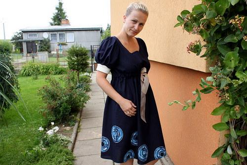 Lněné šaty malované :-)))