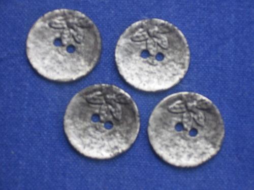 Kovové knoflíky 4 ks vel. 2,3cm