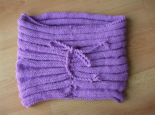 Módní nákrčník - kukla fialová