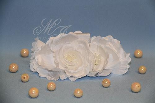 Látková broř ze 2 růžiček