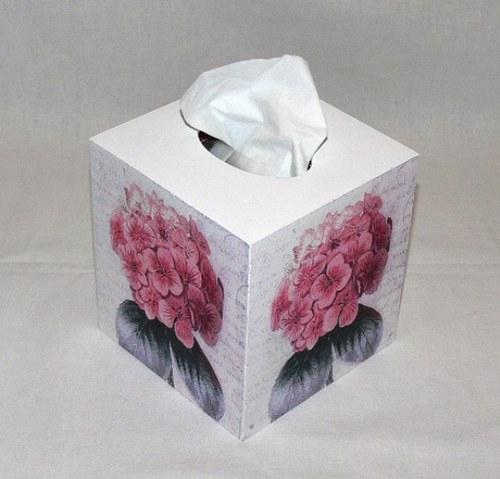 Krabička na kapesníky - hortenzie