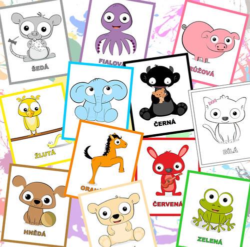 Učíme se barvičky - kartičky ♥