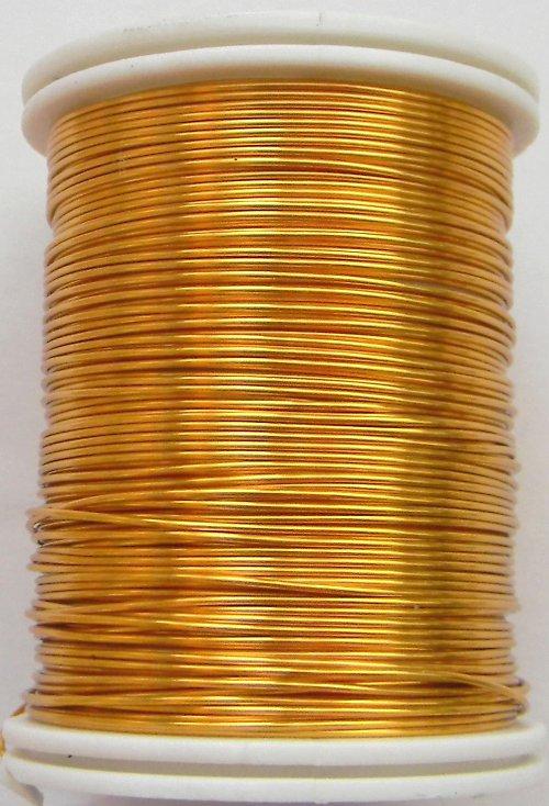 Měděný lakovaný drát 0,6 mm zlatý