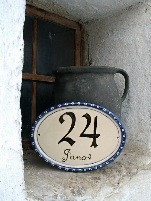 Malované domovní číslo na zakázku