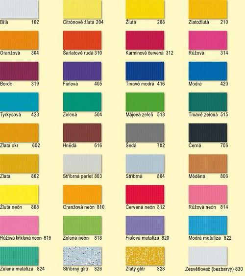 Barvy na textil NERCHAU 59ml VÝBĚR VARIANT bílá