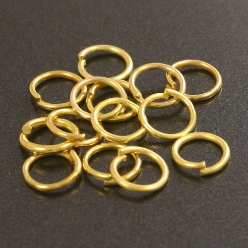 Zlaté kroužky 6 mm (50 ks)
