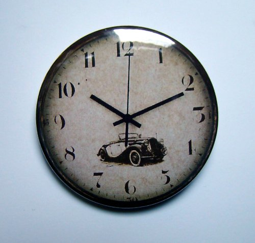 "HODINKY ""OLD CAR\"" - placka - button - 44 mm"