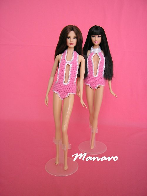 SLEVA Růžové sportovní plavky pro Barbie, My Scene