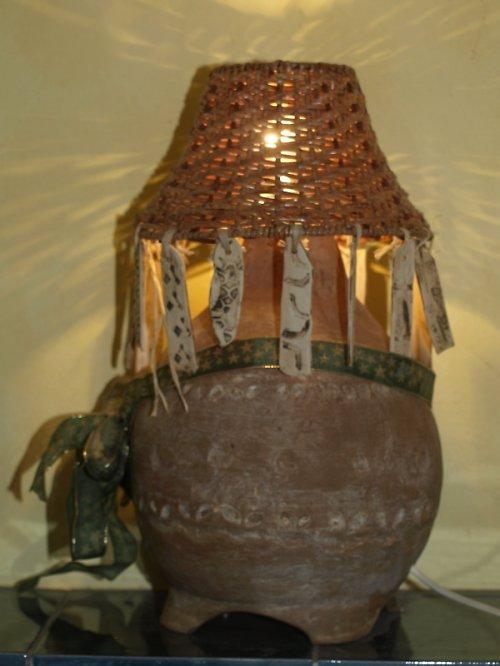 Velká lampa rustikální - sleva 200 Kč