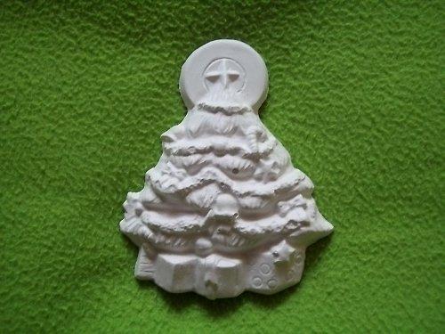 sádrový odlitek - vánoční stromeček