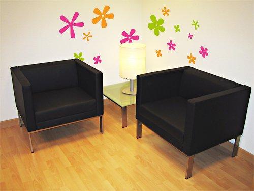 Barevné květy - samolepka na zeď
