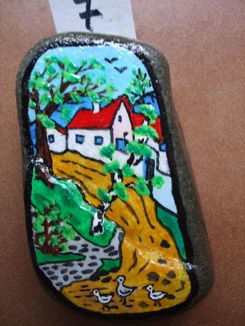 Malovaný kámen-Cestička