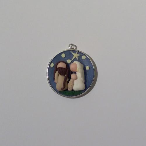 Vánoční medailonek Svatá rodina I.