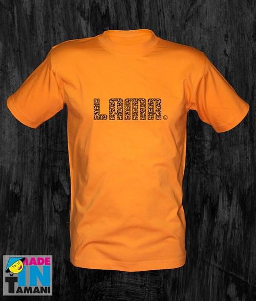 Pánské oranžové tričko Lama 04