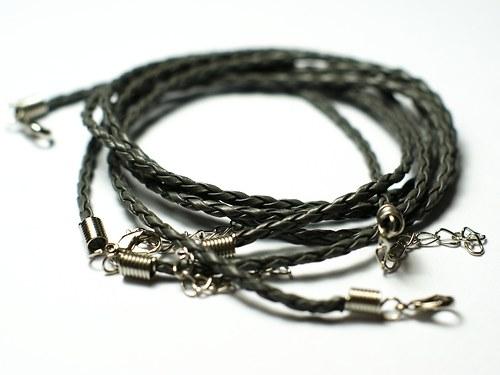 pletený řemínek šedý
