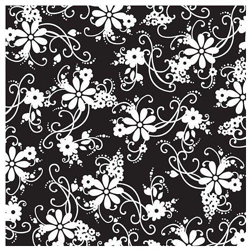 Scrapbook papír Flourish Black