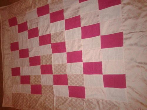 Růžové snění - deka z hedvábí a lnu