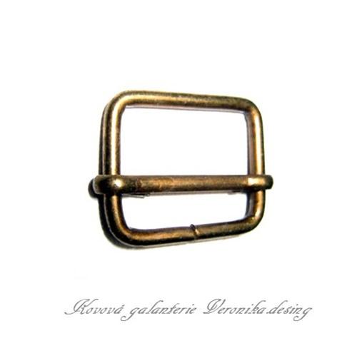 Průvlečná spona kovová 50 mm - staromosaz