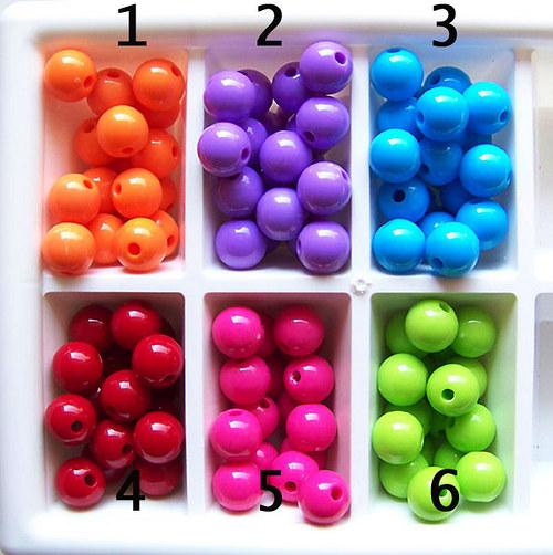 korálky akryl LESK / fialová  č.2 / 12mm / 4ks