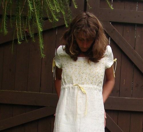 Lněné šaty .... nejen SVATEBNÍ