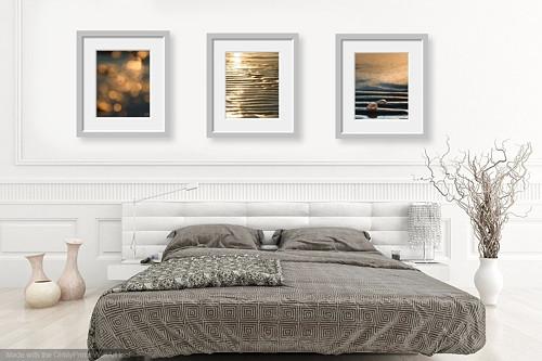 Svítání VI - triptych, autorská fotografie