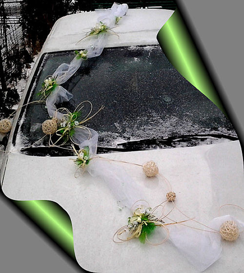 Výzdoba auta - čtyřlístková sada kuličky