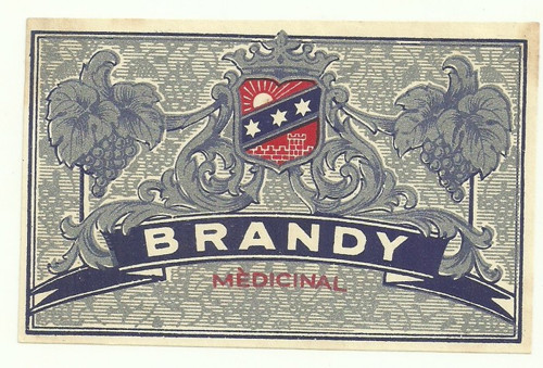 Etiketa Bradny Medicinal