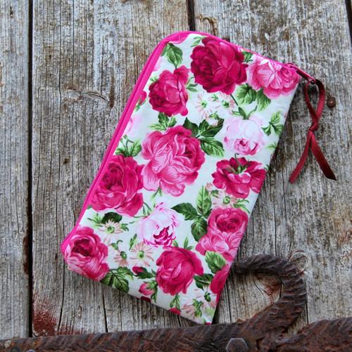 obal na mobil zipový základní- růže