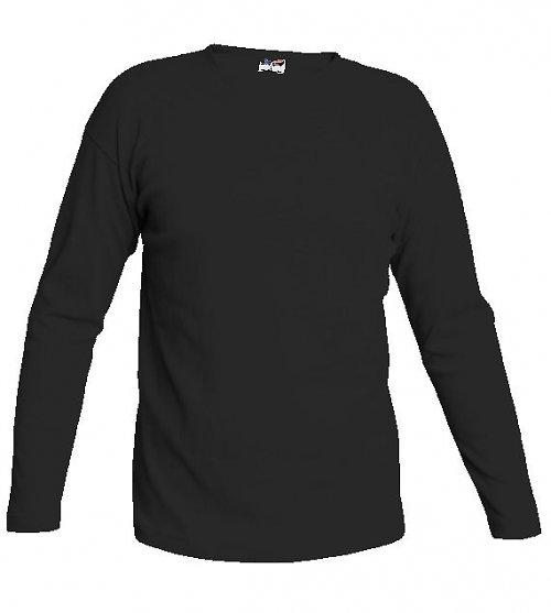 Triko černé dlouhý rukáv 240 g - L, XL - výprodej