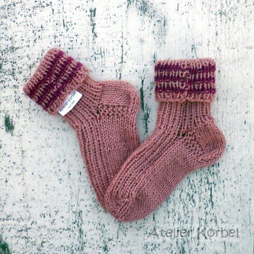 Ponožky pro holčičku, akryl, velikost 12 cm