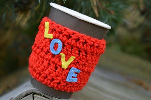 Kafíčkovače -nespal se, ohřej se/Coffee cozy Love