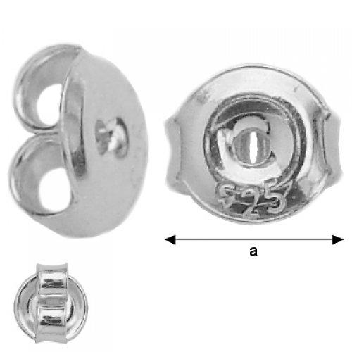 Puzeta stříbro 2 kusy,Ag 925/1000
