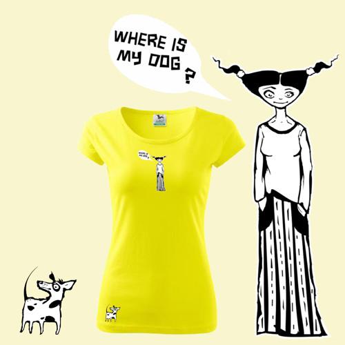Where is my dog?      (dámské tričko L)