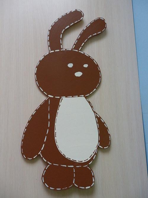 Dřevěná dekorace - Maxi zajíc