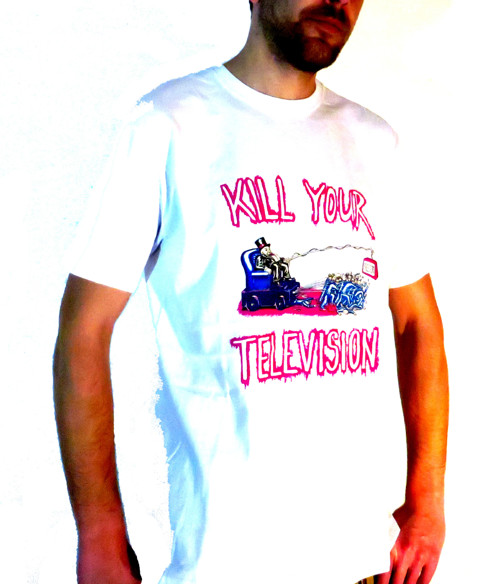 Tričko bílé KILL YOUR TELEVISION