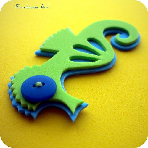 Zeleno modrý mořský koník