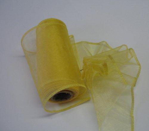 organza žlutá