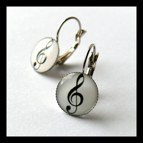 Náušnice s houslovým klíčem