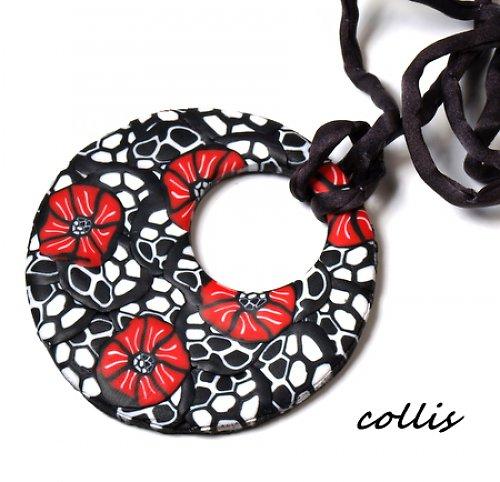 Červenočerný náhrdelník
